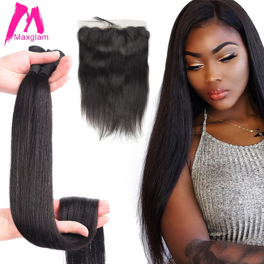 30 inch 40 inch bundles with frontal closure Straight Virgin Remy brazilian hair weave bundles human
