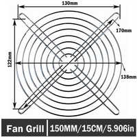 4PCS Gdstime Axial 150mm DC Cooling Fan Grill Metal Wire Finger Guards 15CM