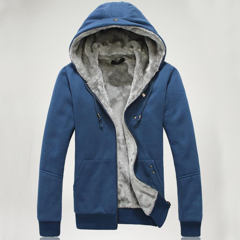 2016 new fashion men's winter coat hooded men with thick warm cashmere cotton M-5XL