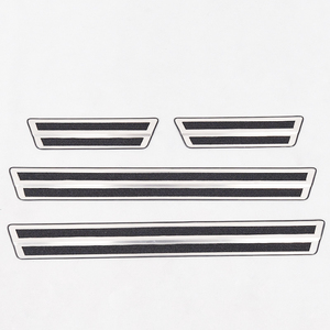 For Toyota C-HR CHR 2017 2018 Stainless Steel inside Door Sill Scuff Plate Welcome Pedal Cover Trim Car Styling accessories 4Pcs