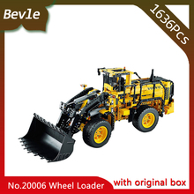 Bevle Store LEPIN 20006 1636Pcs with original box Technic Electric motor Volvo i350F Wheeled Aircraft Building Blocks 42030