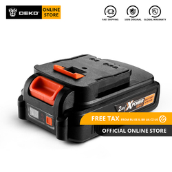 Original DEKO 20V MAX 2000/4000mAh Lithium Ion Battery Pack for GBD20DU2/GBD20DU3/GBW20DU2 Cordless Drill