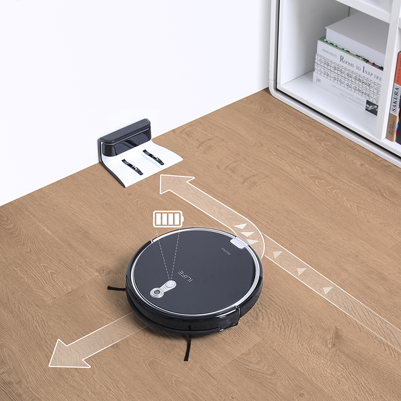 ILIFE  A8 Robot Vacuum Cleaner for Thin Carpet Camera Navigation Various Cleaning modes 4