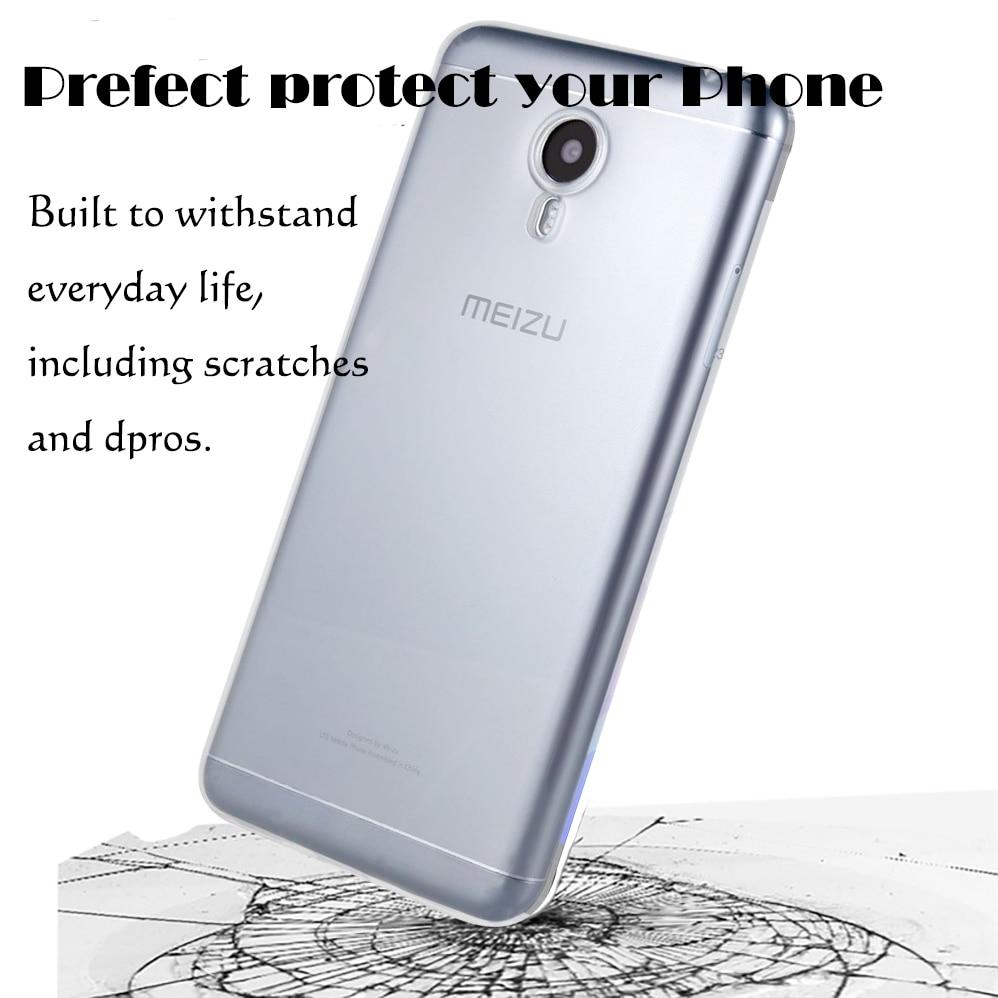 Untuk Meizu M5 M5S M5C Kasus Silikon Lembut TPU Ultra tipis - Aksesori dan suku cadang ponsel - Foto 2