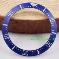 Watch Parts Corgeut 40mm Blue Ceramical Bezel Fit For 44mm SEA Automatic Watches Timepiece Insert For
