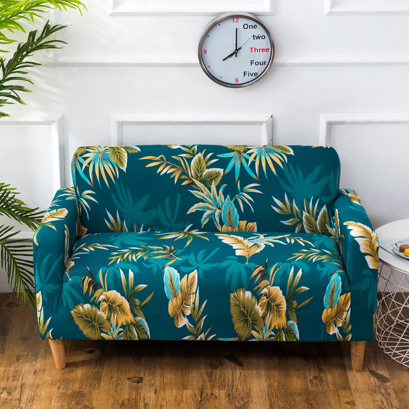 Bohemian Tropical Style Stretch Sofa Covers Living Room
