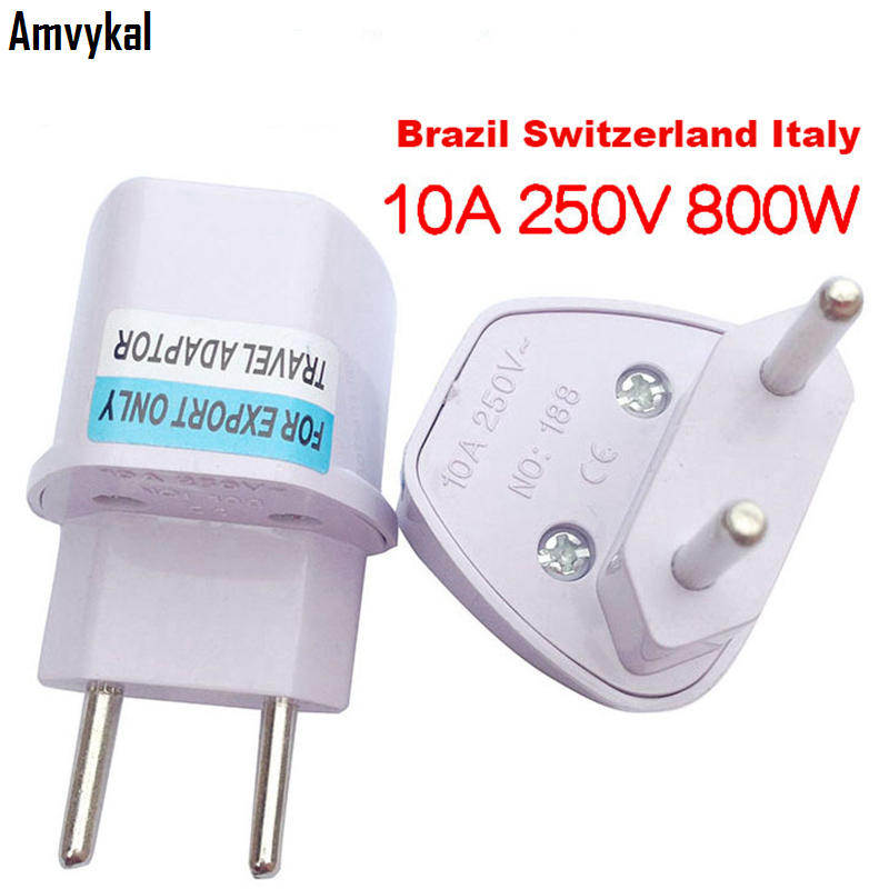 Universal Uk Au Us To Eu Plug Adapter Brazil Argentina Switzerland Italy Ac Power Plug Adapter