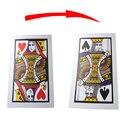 3 unids/lote tamaño grande pvc three card monte (q, K) (30*45 cm)-truco de Magia, la magia de la tarjeta/accesorios prop, de cerca magia 82110