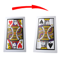 3pcs/lot Big Size PVC Three Card Monte(Q, K)(30*45cm) - Magic trick,card magic/accessories prop,close up magic 82110