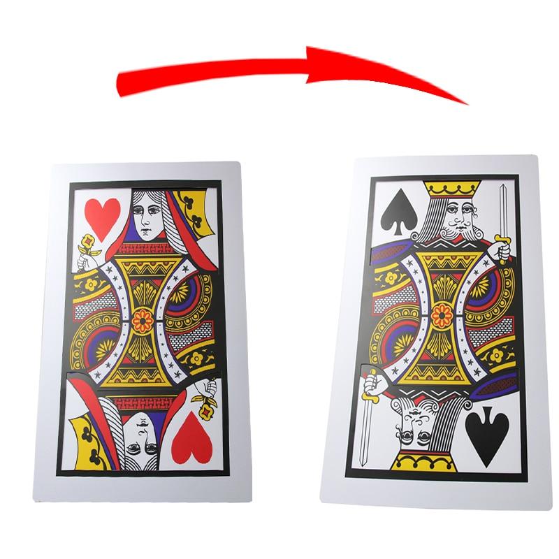 3pcs/lot Big Size PVC Three Card Monte(Q, K)(30*45cm) - Magic trick,card magic/accessories prop,close up magic 82110
