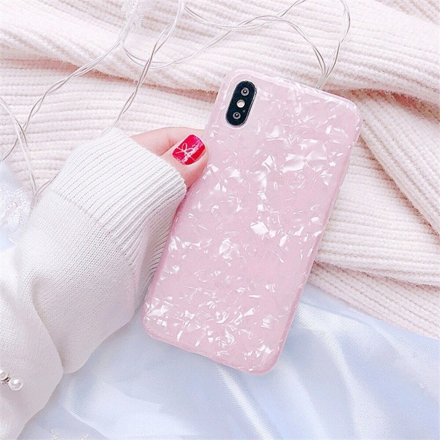 Luxury Glitter Phone Case For iPhone 7 8 Plus Dream Shell Pattern Cases For iPhone XR XS Max 7 6 6S Plus Soft TPU Silicone Cover 3