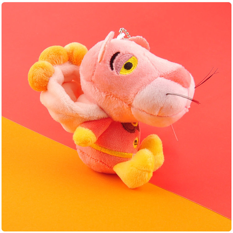 Anpanman Baikinman Pink Panther Plush Toys Keychain Sitting Superman Pink Leopard Panther Soft Animals Stuffed Dolls Key Bag Pendants10pcslot 10cm (4)