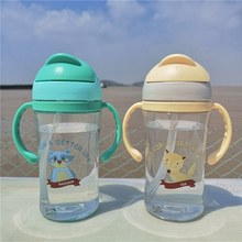 Baby Sippy Cups Babyvoeding Cup 400ml Kinderen Drinken Flessen Baby Kinderen Leren Drinken Dual Handgrepen Stro Sap(China)