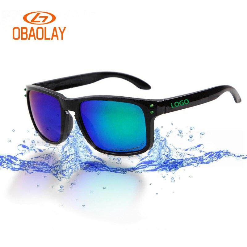 OBAOLA IBrand O hommes Polarisées lunettes de soleil moto course lunettes hommes sport camping lunettes de soleil cadre HD polaroid conduite lunettes Gafas