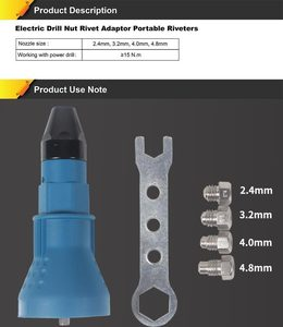 Image 5 - riveter parts tips screwdriver and drill tip DRILL ATTACHMENT  drill for nozzle