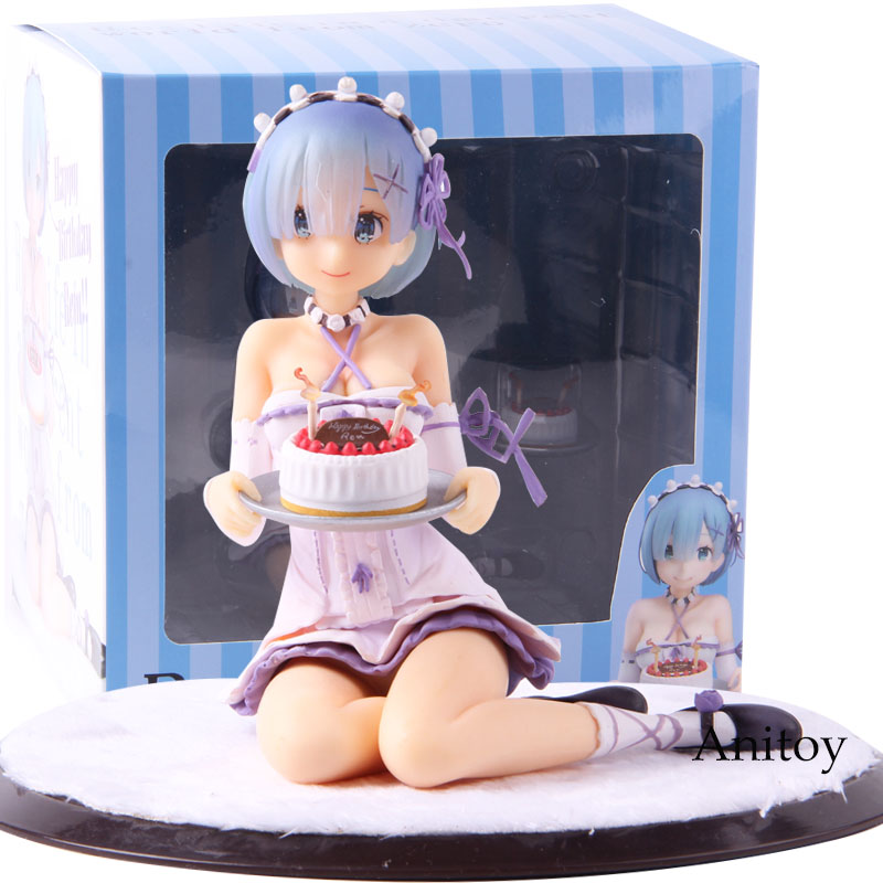 Re:Life in a Different World from Zero Rem Birthday Cake Ver. PVC Anime Rem Re Zero Figure Collectible Model ToyRe:Life in a Different World from Zero Rem Birthday Cake Ver. PVC Anime Rem Re Zero Figure Collectible Model Toy