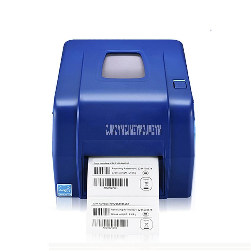 4T300 105.6mm Width Heat-transfer Printer Washing Mark Clothing Tag Barcode Sticker Printer 300dpi Thermal Label Print Machine(China)