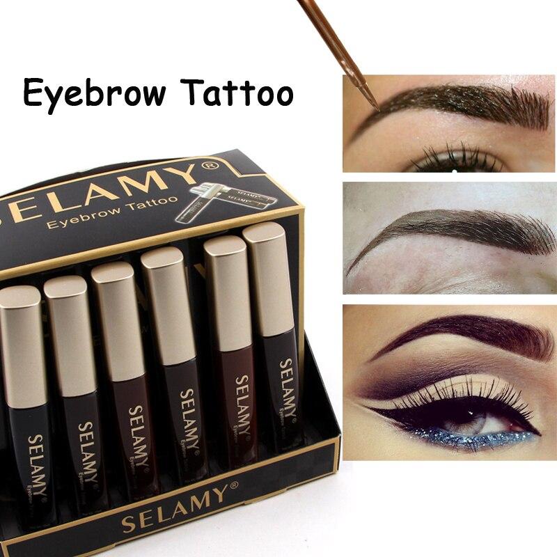 Top quality eyebrow tattoo eye brow enhancer pencil for Waterproof eyebrow tattoo