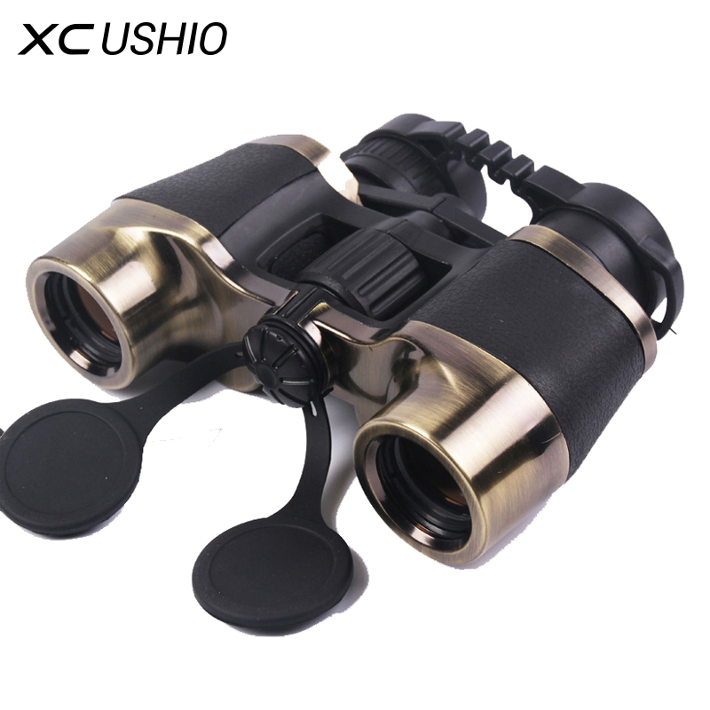 Brand Quality 7x32 Handheld Binocular Telescope 10X Zoom Metal Frame Green Film Big Ocular Eyepieces Outdoor Binoculars On Sale цены