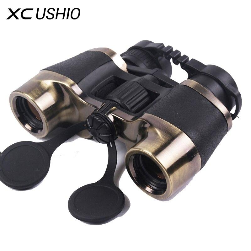 Marque Qualité 7x32 De Poche Binoculaire Télescope 10X Zoom Métal Cadre Vert Film Grand Oculaire Oculaires En Plein Air Jumelles Sur vente