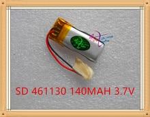 Grau de Energia L 3.7 V Bateria de Polímero Lítio 461130 Mp3 Mp4 140 Mah Fone Ouvido Bluetooth Pequeno Brinquedo Som