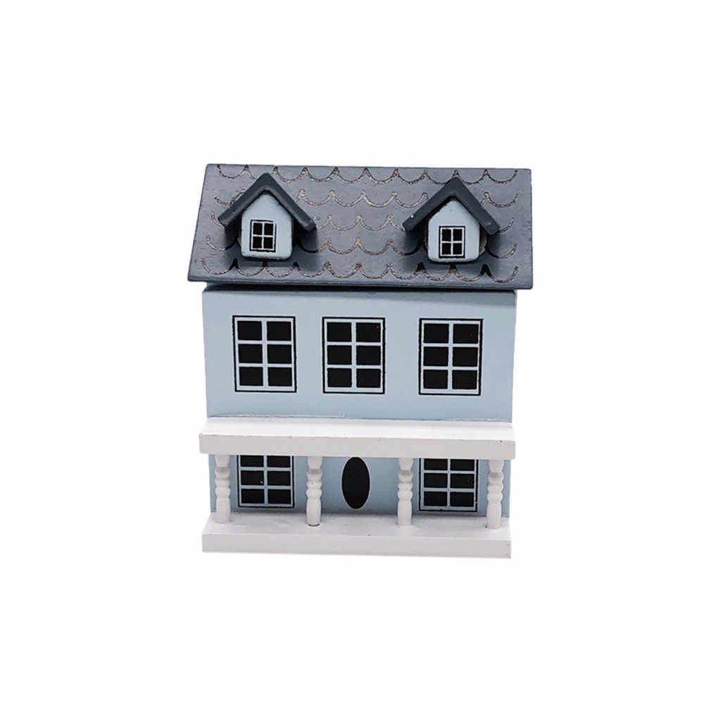 HIINST 1/12 Mini Dollhouse Miniature Villa Mini House with Movable Grey Roof Toy  19APR25 P35