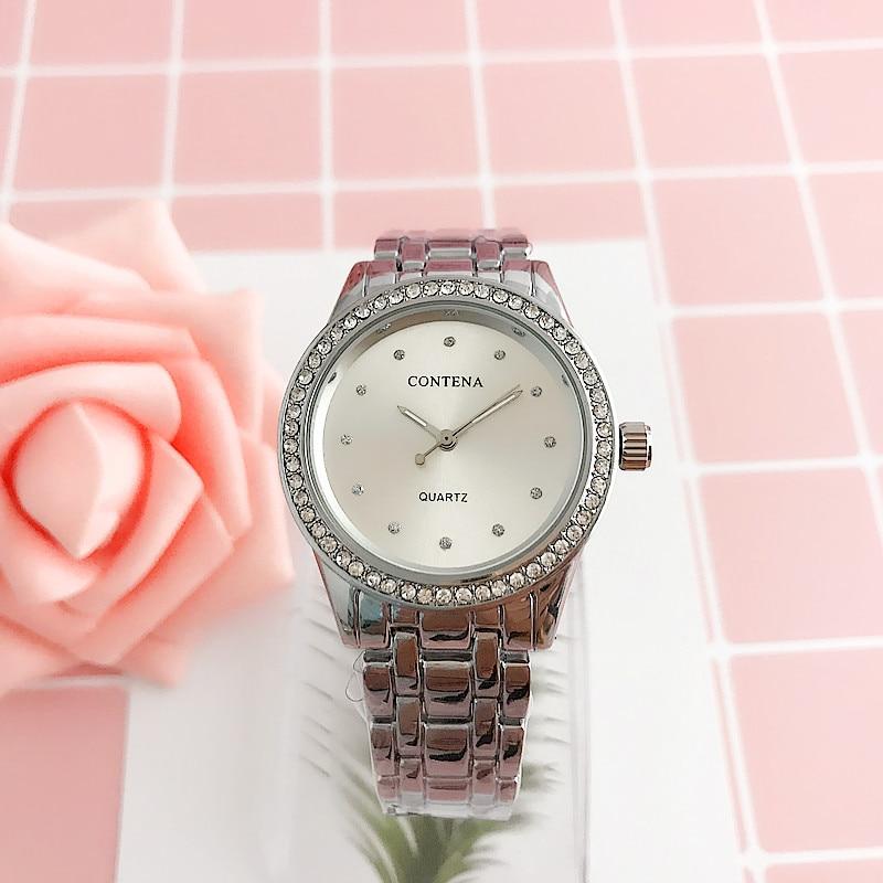 CONTENA Tourbillon Mechanical Silver Quartz Watch Women Clock female Ladies Dress Wristwatch Gift relojes mujer цена и фото