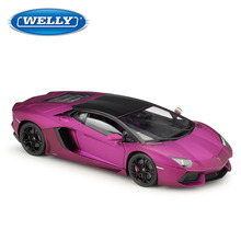 WELLY 1:18 Lamborghini Eventador Aventador LP700-4  Alloy Retro Car Model Classic Car Model Car Decoration Collection gift цена
