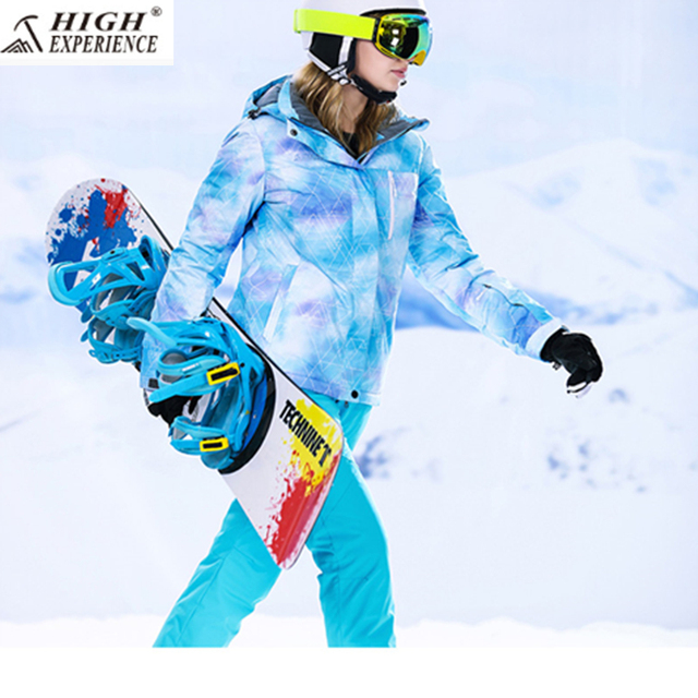 High Experience женские зимние Костюмы Для женщин s Mountain Лыжный Спорт уличные зимние теплые спортивные костюмы 2018 Лыжная куртка Для женщин Лыжный Спорт Штаны