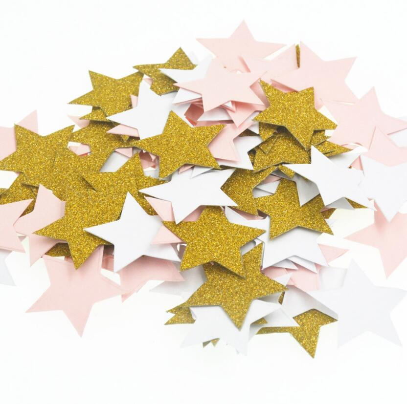 Rational 500pcs 3cm Gold/white/pink Star Paper For Wedding Bridal Party Throwing Confetti Baby Shower Table Decoration Scatter Sprinkles Quell Summer Thirst Event & Party Party Diy Decorations