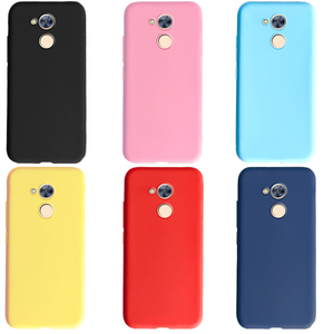 Phone Cases Honor 6A DLI-TL20 Cover case for huawei Honor 6A 6 A Case Silicone Soft Matte Candy solid colors Cover Bumper Fundas(China)