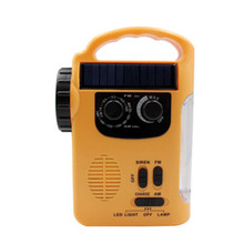 D339 Hand-cranked radio emergency light AMFM two-band outdoor mobile phone charging