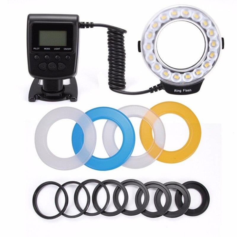 EACHSHOT RF 600D 18 LED Macro LED Ring Flash Versatile Lighting Macro Photography Flashes For Canon