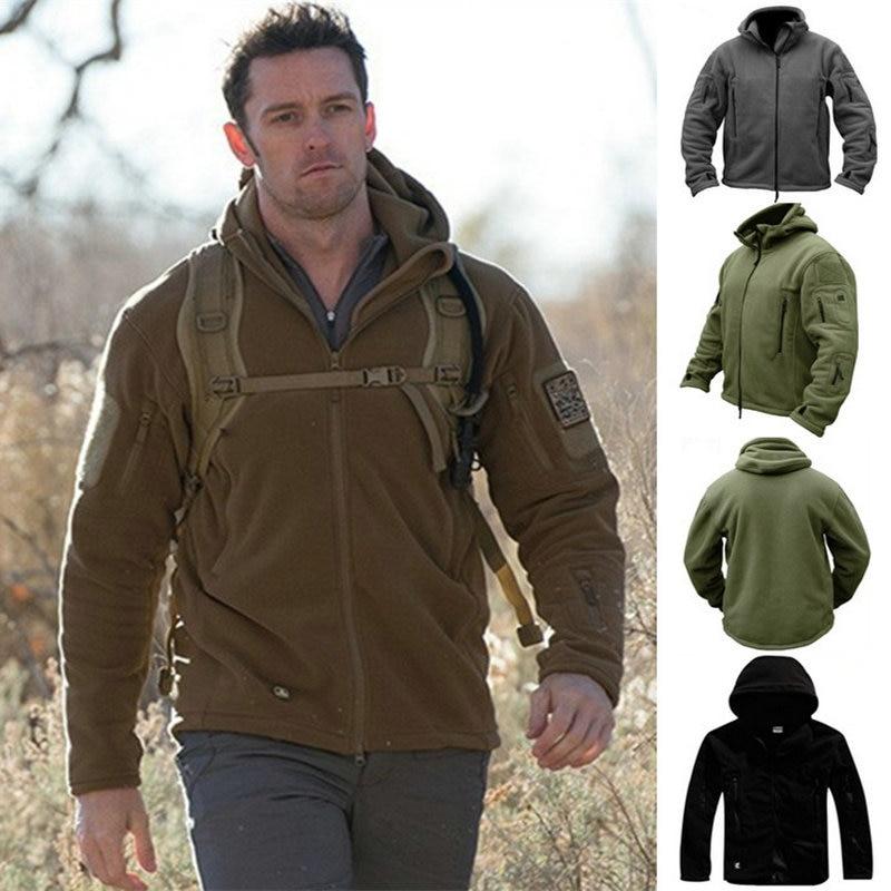 Zogaa Brand New Military Men Fleece Tactical Jacket Overcoat Men Outdoor Polartec Thermal Windbreaker Mens Jackets And Coats