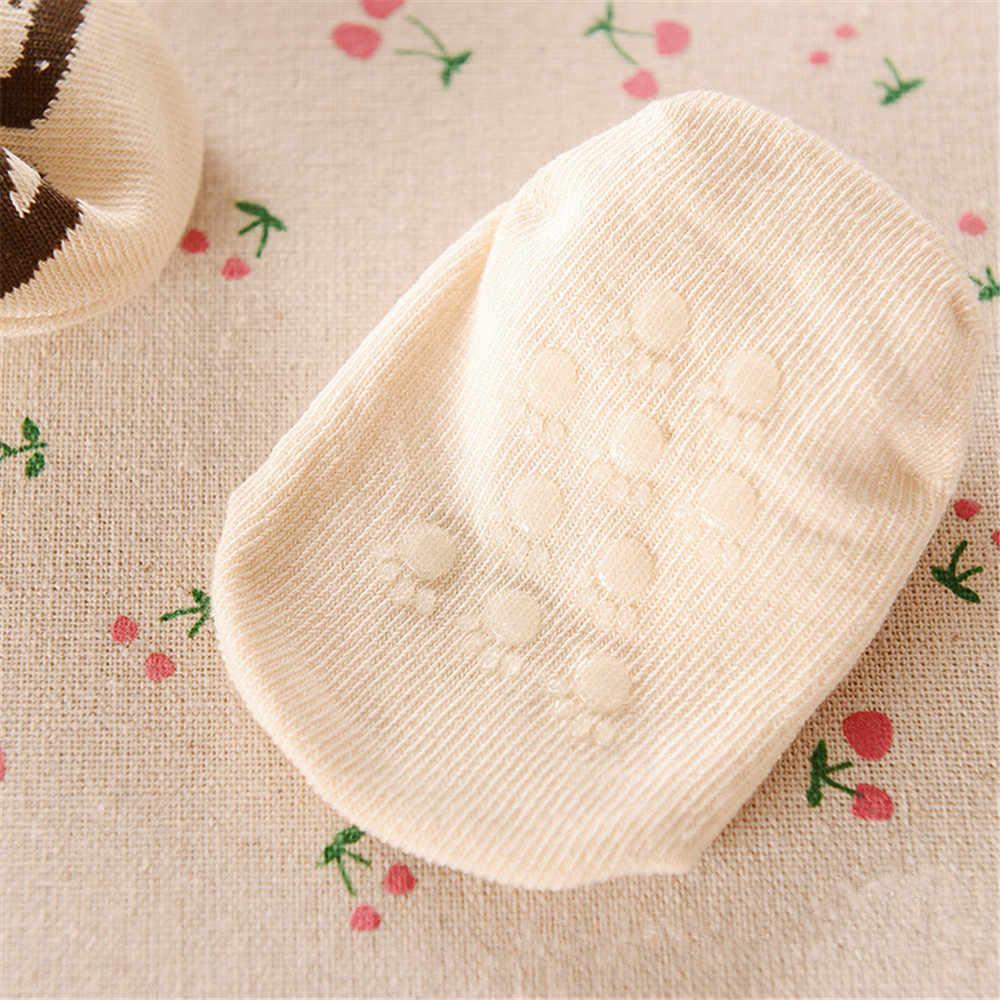 Детские носки Резиновые Нескользящие хлопковые носки для маленьких мальчиков короткие носки для новорожденных с животными браслет на ногу для девочек милые носки для младенцев 0-6 лет