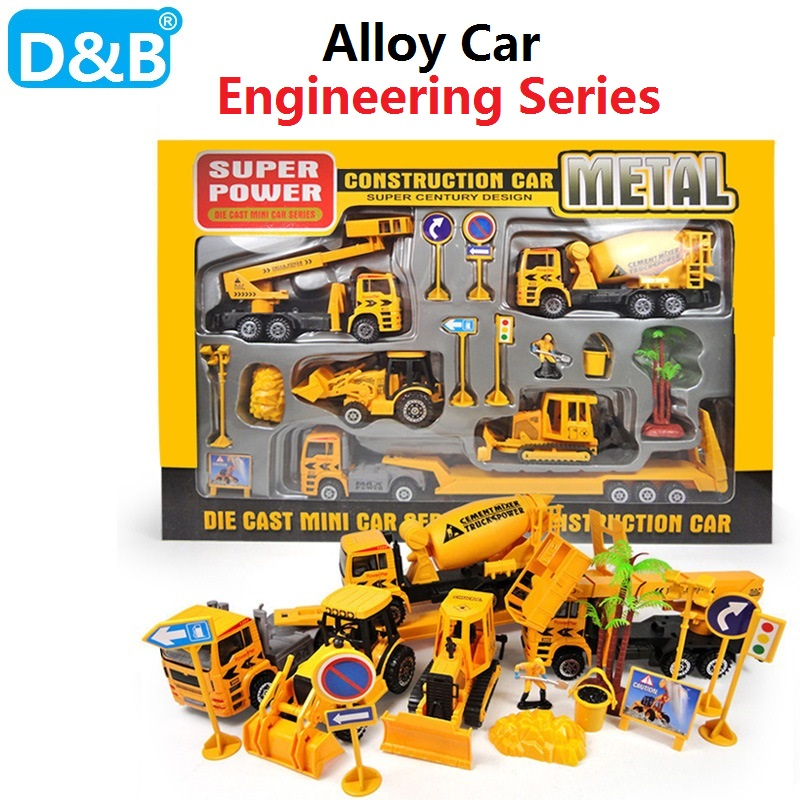 Free Shipping 1:50 Simulation Engineering Series Alloy car,Engineering Vehicle,Excavator,Truck Model Toys for Children Gift 1 50 drill wagon alloy truck engineering vehicle toy car model dinky toys for children boys gift