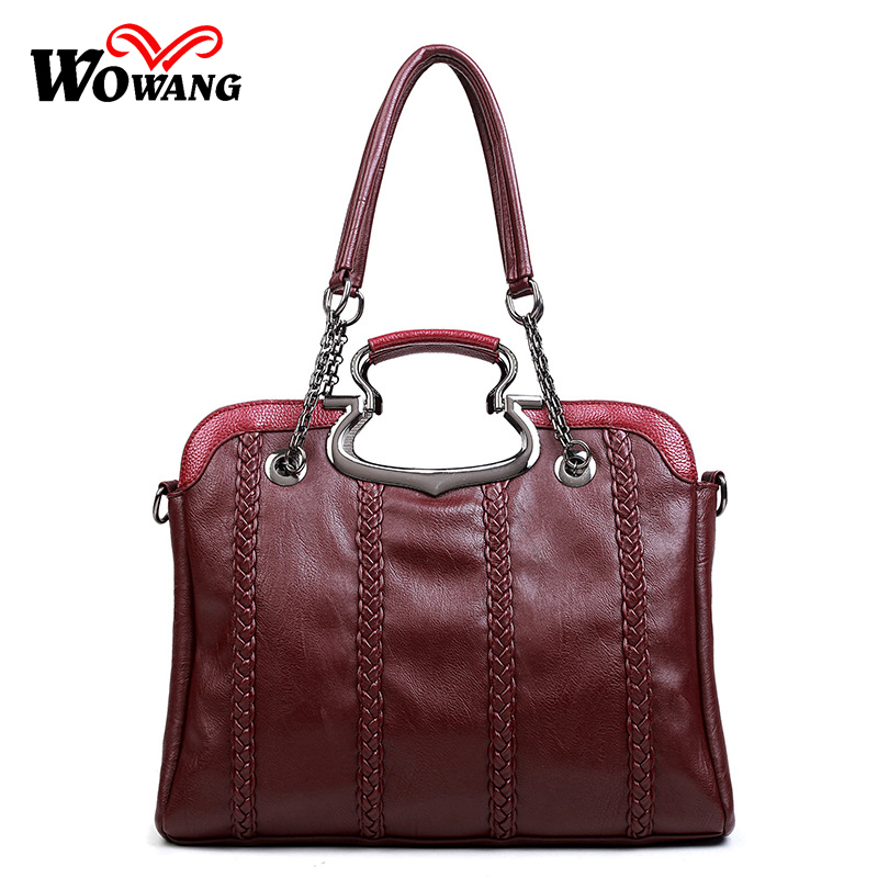 Women Bag Brand 2016 New Women's Shoulder Bags Leather Handbags Sac A Main Women Messenger Crossbody Bag Vintage Tote Bag Bolsas aou new women classic bag brand chains bags women s fashion shoulder bag red celebrity crossbody bag sac a main china gift