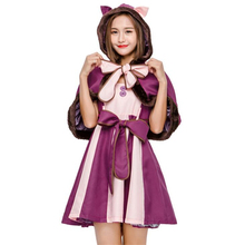 Hot Sale Purple Womens Wonder Cat Cosplay Clothing Movie Alice In Wonderland Adult Halloween Costume