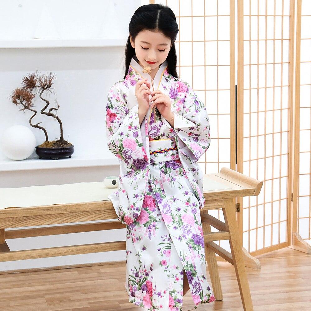 Clásico Chica Kimono Tradicional Japonés Bebé Impreso