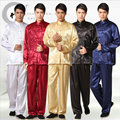 Men Long Sleeve Embroidered Dragon Kungfu Suit Top+pants SatinTai Chi Costume Chinese Traditional Costume Stage Performance 17