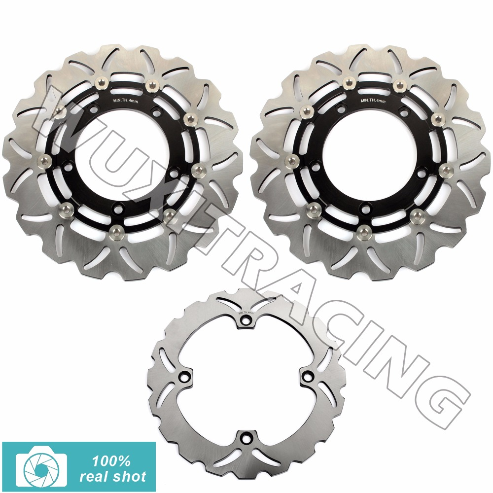 Full Set Front Rear Brake Discs Rotors for SUZUKI DL 650 V-STORM ABS X Traveller Xpedition 2007-2016 2008 2009 10 11 12 13 14 15 new arrival 2 pieces motorcycle accessories front brake discs rotor for suzuki gsf650 bandit abs non 2007 2008 2009