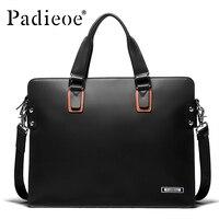 Padieoe мужские 14 дюймов ноутбук портфель натуральная кожа мужские сумки деловые мужские сумки мессенджеры Роскошные Мужские портфели сумки