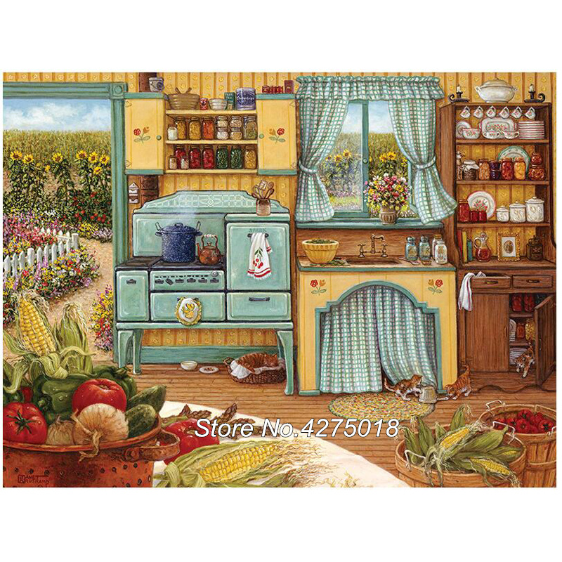 Arts,crafts & Sewing Diamond Embroidery Diy Diamond Painting Cross Stitch 5d Square Diamond Mosaic Pasted Crafts Needlework Kitchen Food Cx470 Home & Garden