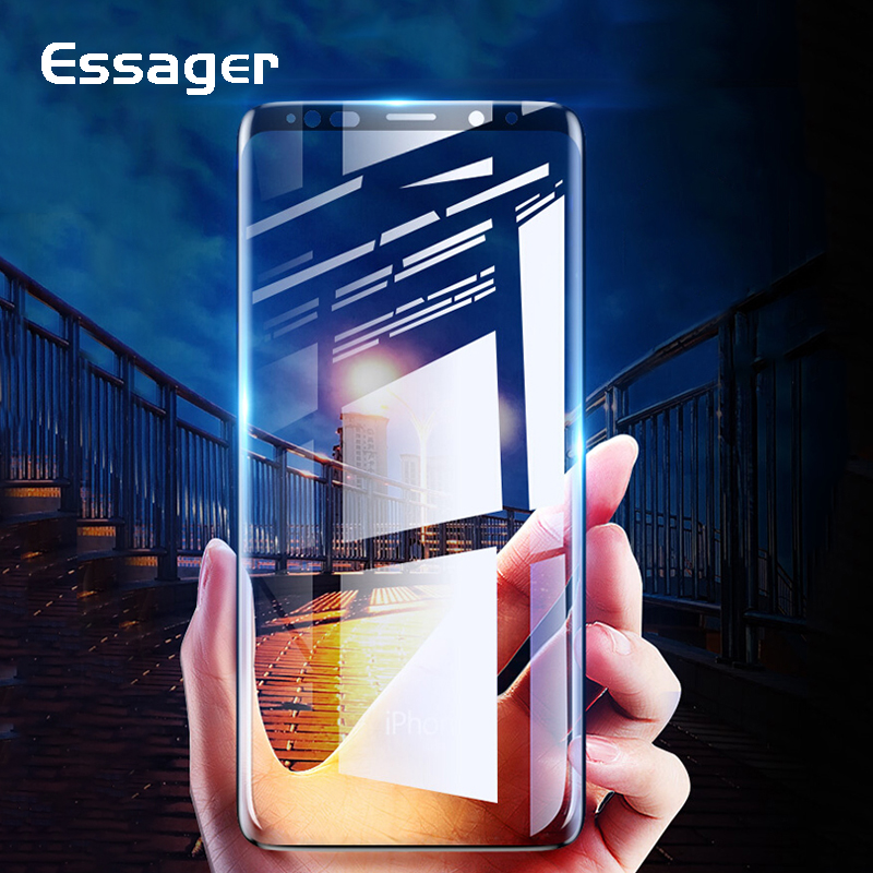 Essager 0.3mm 5D Tempered Glass For <font><b>Samsung</b></font> Galaxy Note 9 <font><b>Screen</b></font> Protector For <font><b>Samsung</b></font> Note 9 8 <font><b>S9</b></font> S8 <font><b>Plus</b></font> <font><b>Protective</b></font> Glass Film image