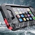 Para iphone 5c 5s 1:1 doom armadura sujeira à prova de choque à prova d' água impacto caso de metal de alumínio gorila para o iphone 5c 5s grátis grátis