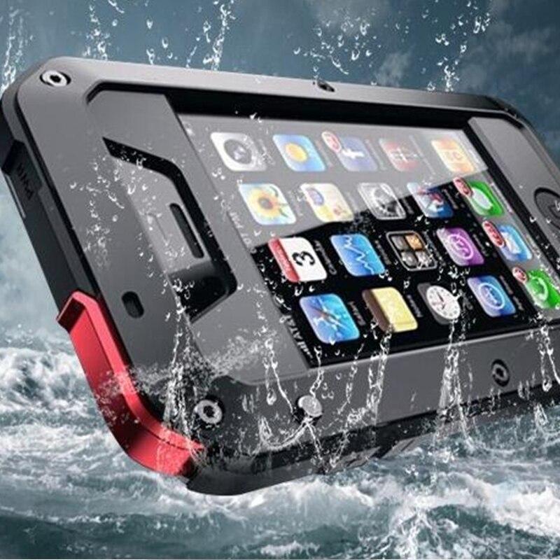 for iPhone 5C 5S 1:1 Doom armor Dirt  Waterproof Shockproof Aluminum Gorilla Metal Impact Case for iPhone 5C 5S Free Shipping