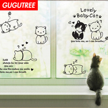 Decorate cats animal cartoon art wall sticker decoration Decals mural painting Removable Decor Wallpaper LF-1777