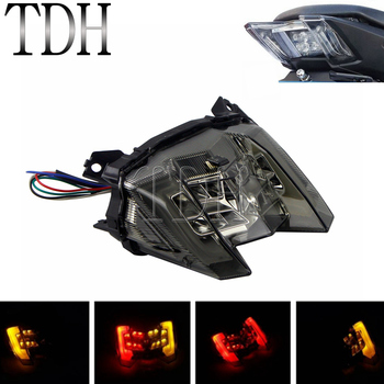 For Yamaha MT-09 FZ-09 MT09 FZ09 2017 2018 2019 Turn Signal Light Integrated LED Tail Light Brake Light Smoke Rear Light 2 Color