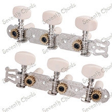 A Set 2 Pcs Nickel Plate String Tuner Tuning Pegs Keys Machine Heads for Classical Guitar Replacement parts