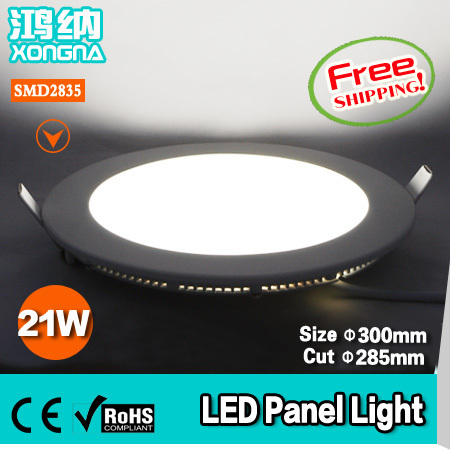 ФОТО Free Shipping AC85~265V 21W LED Panel Light SMD2835 Warm White(3000~3200K) or Cold White(6000~6500K)